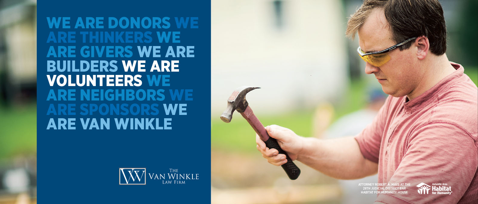Portfolio We are Van Winkle Habitat for Humanity Advertisement