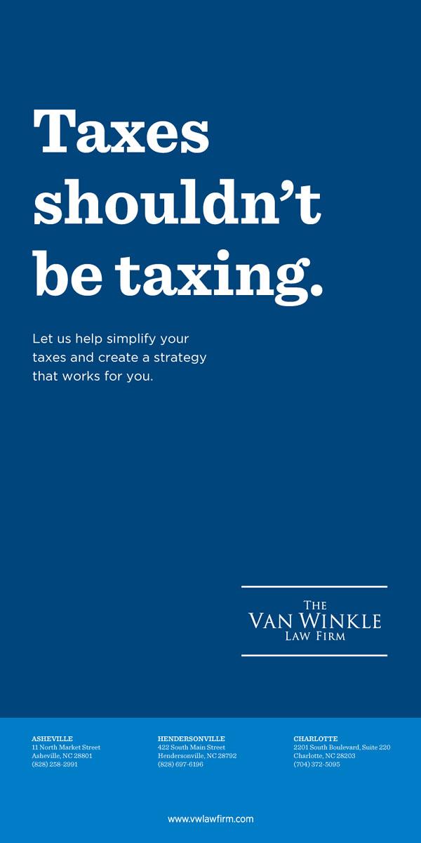 Portfolio Van Winkle Tax Ads